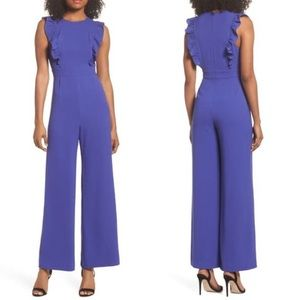 Charles Henry Ruffle Jumpsuit Romper Extra Small